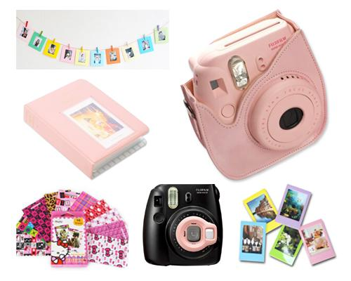 Fujifilm Bundle Set Photo Frame / Case for Fuji Instax  Mini 8 - Pink