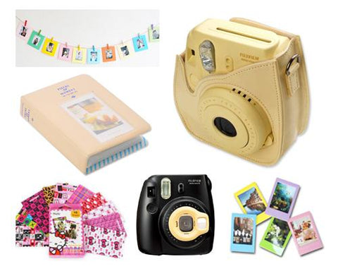Fujifilm Bundle Set Photo Frame / Case for Fuji Instax  Mini 8 -Yellow