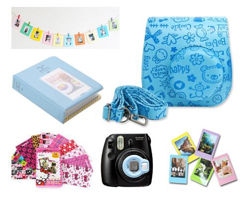 Fujifilm Bundle Set Frame/ Cartoon Case for Fuji Instax  Mini 8 - Blue