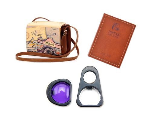 Fujifilm Bundle Set Case/Album/Selfie Lens for Fujifilm Instax Mini 90