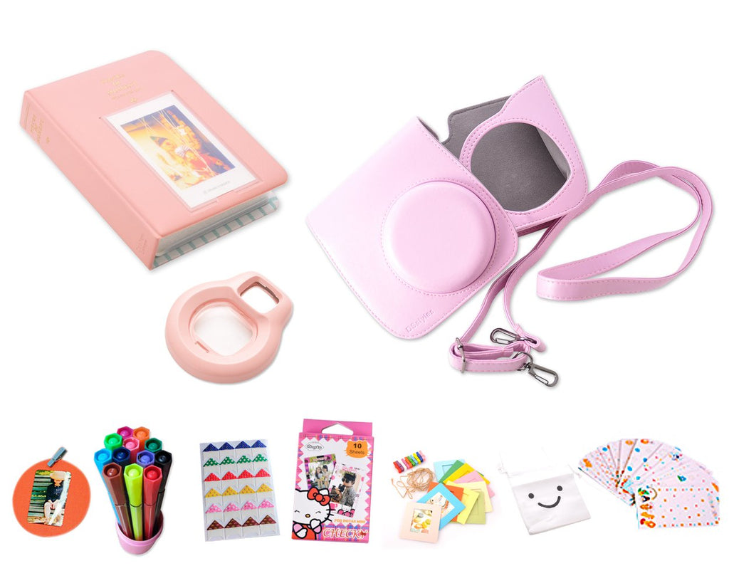 Camera Accessory Bundles Set for Instant Fujifilm Instax Mini 8 - Pink