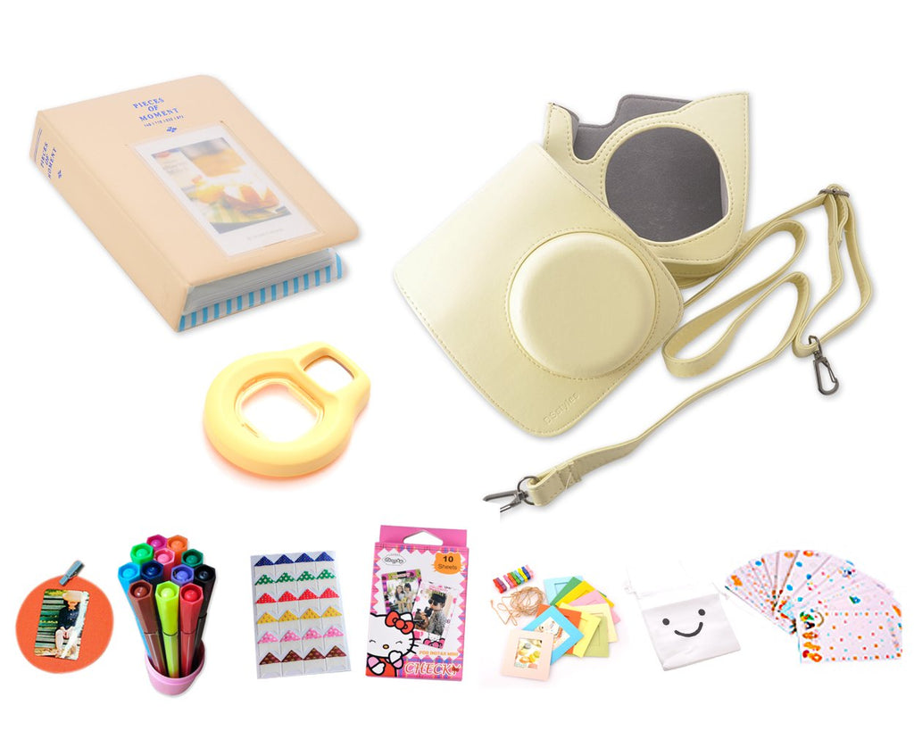 Camera Accessory Bundles Set for Instant Fujifilm Instax Mini 8-Yellow