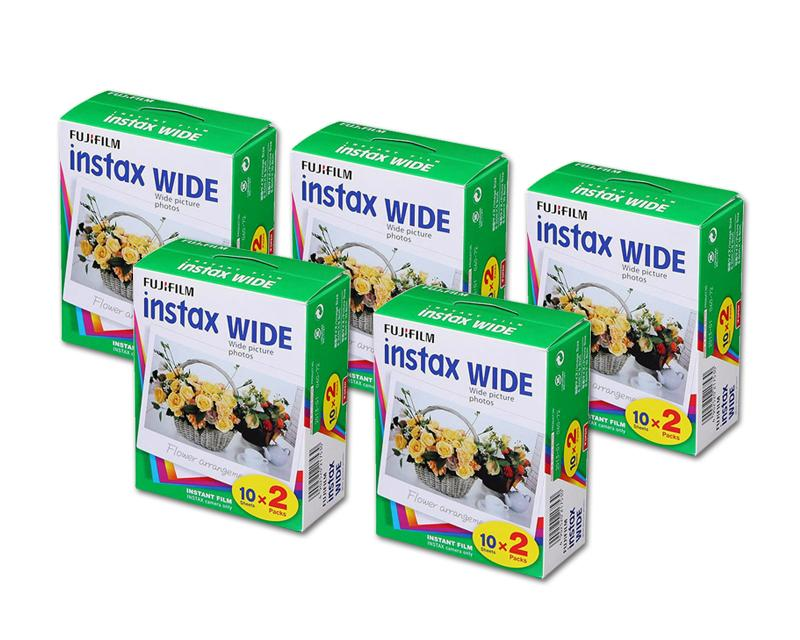 Fujifilm Instax Wide Film for Instant Film Camera, 20 Sheets/Pack x 5