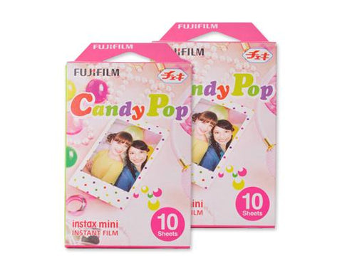 Fujifilm Instax Mini Film for Instant Film Camera-Candy Pop, 20 Sheets