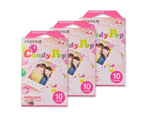 Fujifilm Instax Mini Film for Instant Film Camera-Candy Pop, 30 Sheets