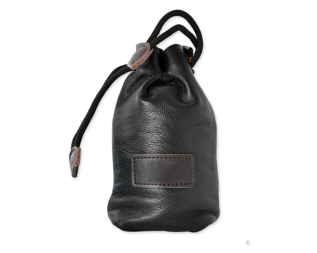Small Genuine Leather Drawstring Sack Bag for Mirrorless Camera