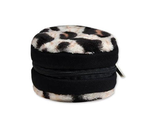 Zipper Sony DSC-Q10 Camera Lens Case - Leopard