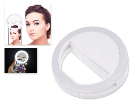 Smartphone Selfie Ring Light - White