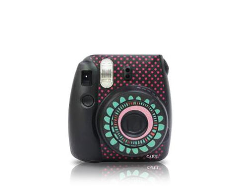 Floral Camera Sticker for Fujifilm Instax mini 8 - Black
