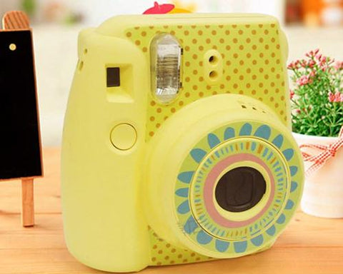 Floral Camera Sticker for Fujifilm Instax mini 8 - Yellow