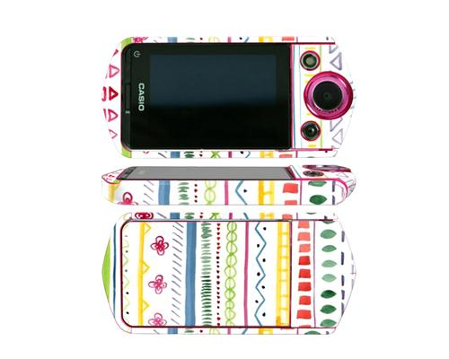 Camera Sticker for Casio EX TR350 / Casio EX TR15 - Ethnic White