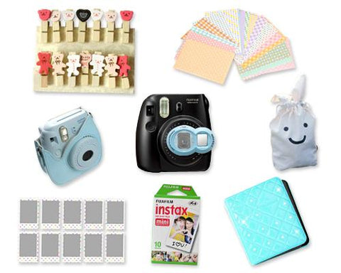 Fujifilm Fuji Instax Mini 8 Instant Camera Accessory Bundles Set - Blue