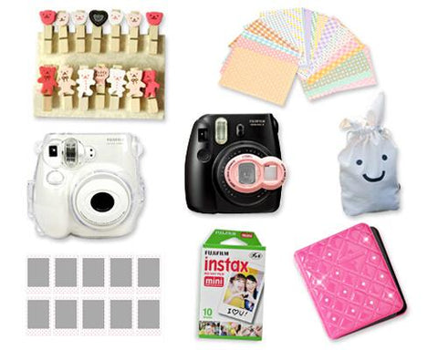 Fujifilm Instant Instax Mini 7S Polaroid Camera Bundle Set - Magenta
