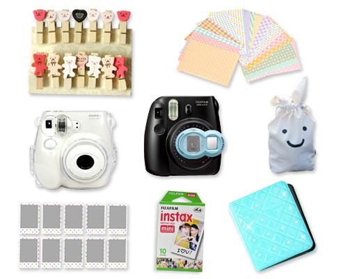 Fujifilm Instant Instax Mini 7S Polaroid Camera Bundle Set - Blue
