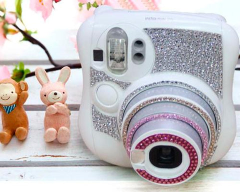Diamond Camera Sticker for Fujifilm Instax Mini 25 - Pink