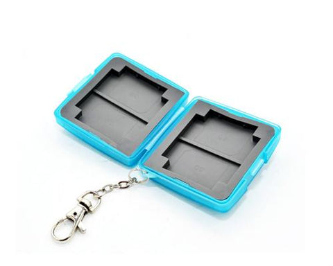 Camera Memory Cards Storage Case - Blue