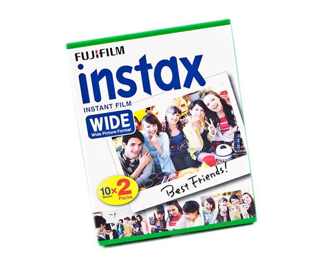 Fujifilm Instax Wide Film for Fuji Instant Film Camera, 20 Sheets/Pack