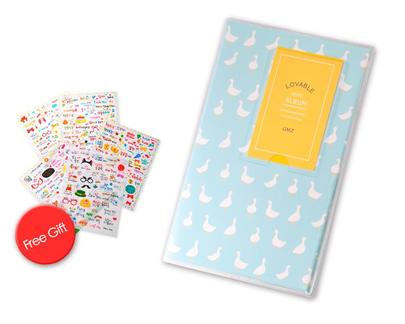 Lovwly Mini Photo Album for Fujifilm Instax Mini Films - Duck