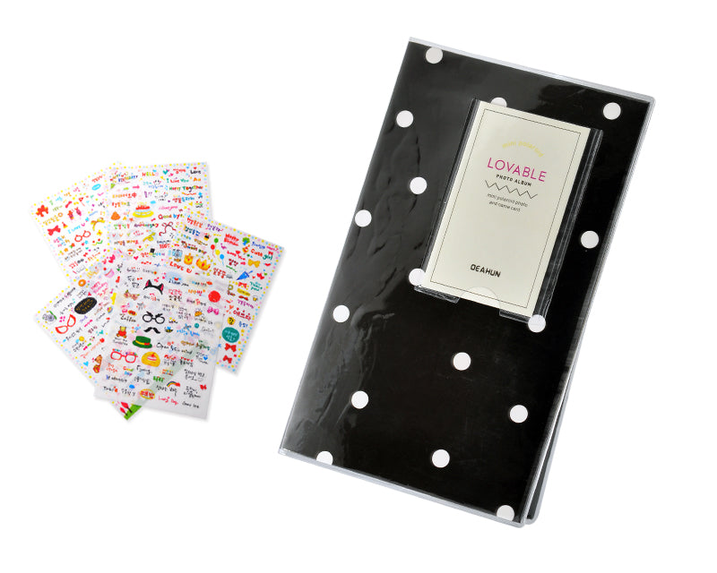 Lovable Card Holder Photo Album for Fuji Instax Mini Films - Dot