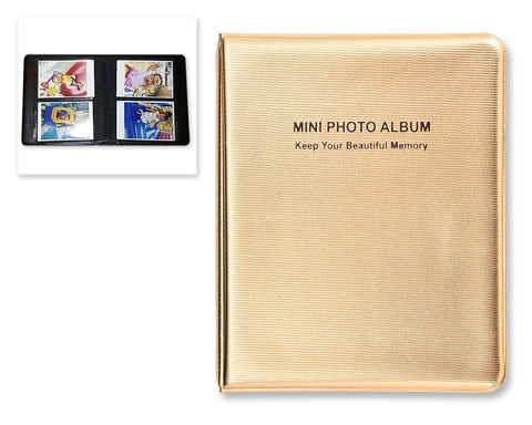 Mini Book Style Photo Album for Fujifilm Instax Mini Films - Gold