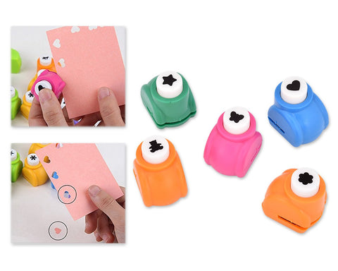 Hole Puncher 5 Pieces Paper Punches for DIY Craft Scrapbook Photo Album