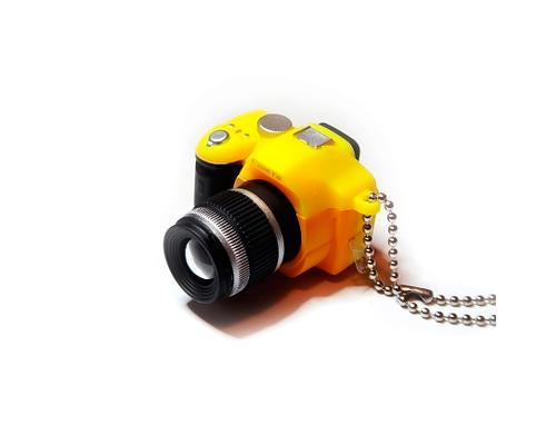 Cute Camera-shaped Hot Shoe Cover for Canon Nikon Fujifilm - Yellow