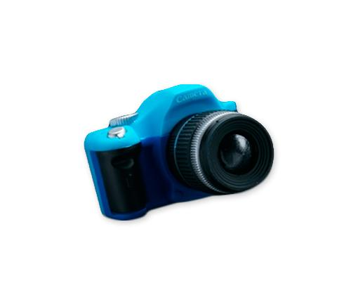 Cute Camera-shaped Hot Shoe Cover for Canon Nikon Fujifilm - Blue
