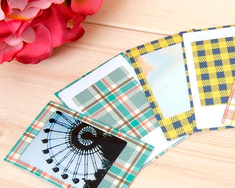 80Pcs Photo Sticker Borders for Fujifilm Instax Mini Films - Plaid