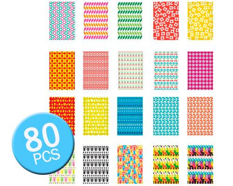 80Pcs Photo Sticker Borders for Fujifilm Instax Mini Films-Scandinavia