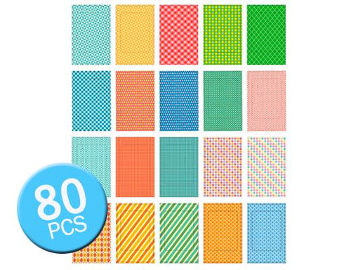 80Pcs Photo Sticker Borders for Fujifilm Instax Mini Films - Geometric