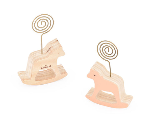 Wooden Memo Clips Place Card Fuji Instax Films Photo Holder - Horse