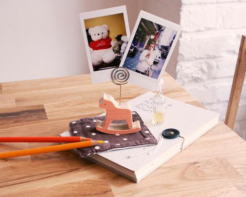 Wooden Memo Clips Place Card Fuji Instax Films Photo Holder - Deer