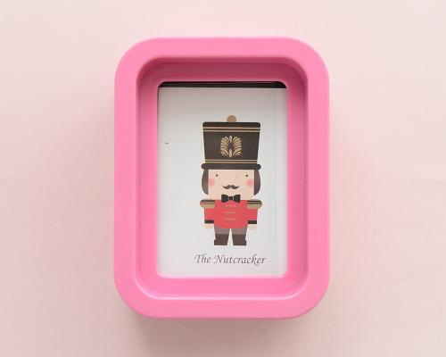 Cute Mini Soldier Picture Frame Children Nursery Photo Holders - Pink