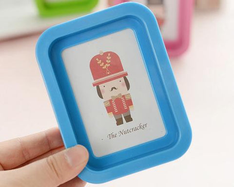 Cute Mini Soldier Picture Frame Children Nursery Photo Holders - Blue