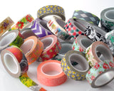 5 Pcs 1.5 cm Japanese Flower Craft Decor Paper Washi Masking Tape