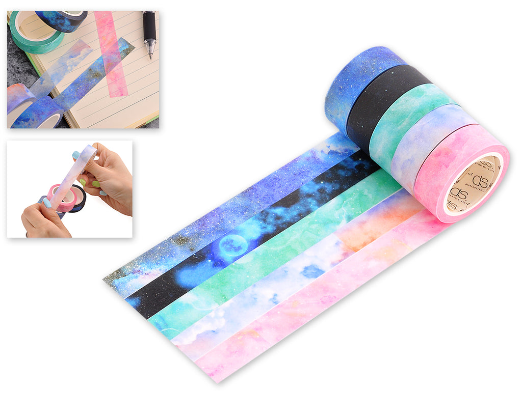 5 Rolls Washi Tape Set Decorative Masking Tapes