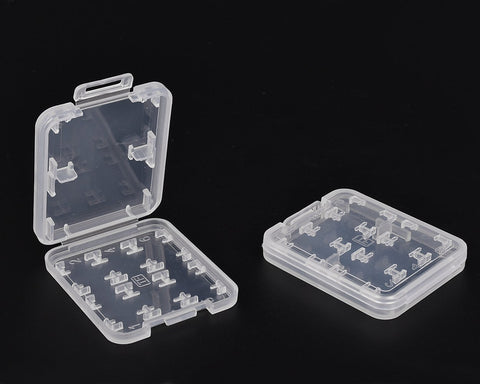 Transparent Memory Card Case Set of 3
