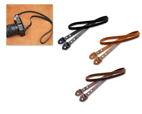 Vintage Style Genuine Leather Camera Strap