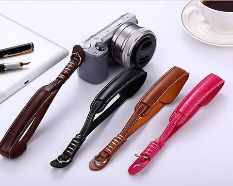 Retro Leather Camera Wrist Hand Strap