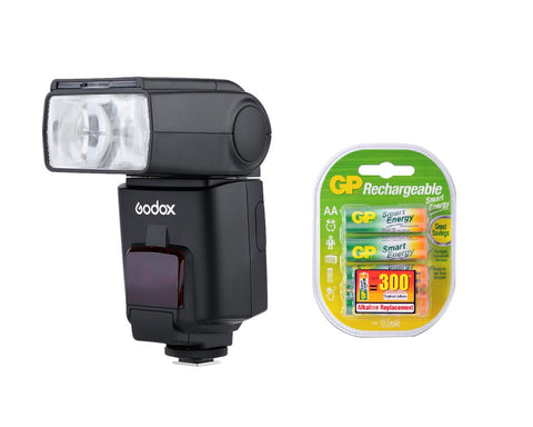 Godox Speedlite TT680N Nikon Flash with GP Rechargeable Batteries