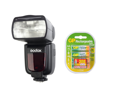 Godox Speedlite TT600 2.4G Flash with GP Rechargeable Batteries