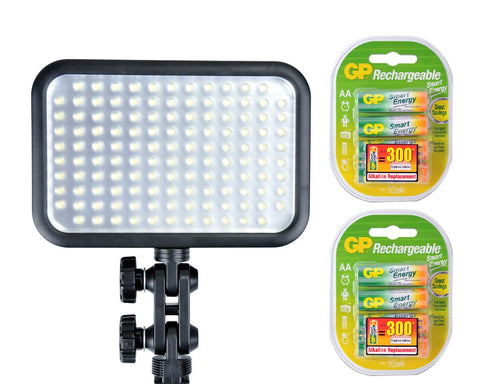Godox LED 126 Video Light with GP Rechargeable Batteries