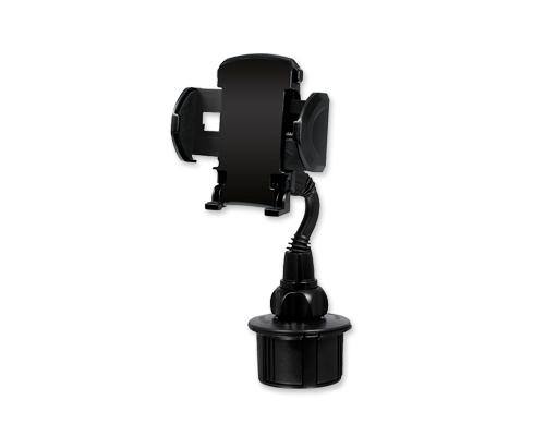 Adjustable Automotive Cup Holder for iPod Smartphones MP3 GPS - Black