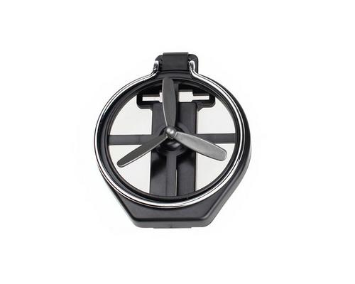Foldable Air-Outlet Insert Car Cup Holder with Fan - Black