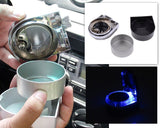 Mini Portable LED Car Cigarette Smokeless Ashtray - Black