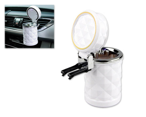 Portable LED Diamond Cut Style Car Cigarette Smokeless Ashtray