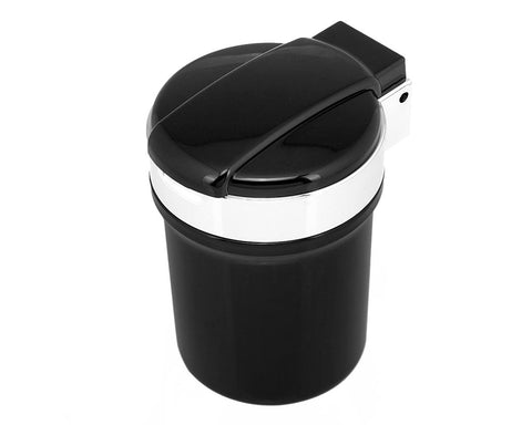 Portable Auto LED Car Cigarette Smokeless Ashtray - Black