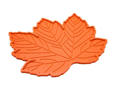 Maple Leaves Non-Slip Car Mat Dashboard  Pad for Mobile Phone - Orange
