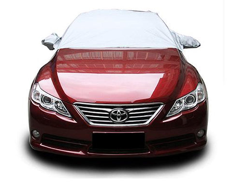Car Windshield Snow Sunshade Cover with Side Flaps and Straps