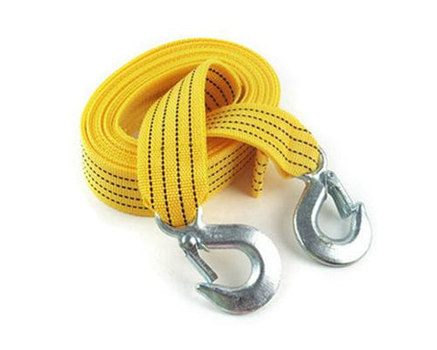 3M 3 Tons Nylon Car Tow Strap Rope with Hooks